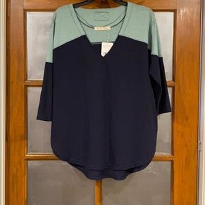 Free People Major Leagues T-Shirt Navy/Teal S
